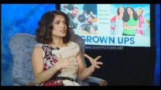 Salma Hayek de Grown Ups (Son Como Niños) en entrevista con Alex Medela -