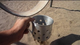 Build Your Own Beach Sand Scoop Under 3 Dollars For Metal Detecting