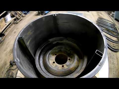 Изготовление дисков для шин низкого давления своими руками видео