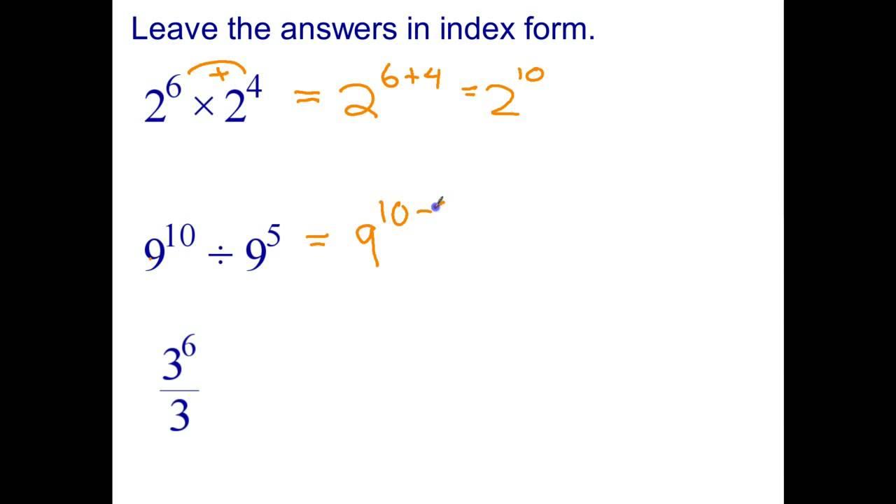 index laws year 8 worksheet pdf