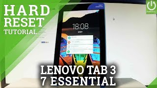LENOVO Tab3 7 Essential HARD RESET / Bypass Screen Lock / Restore