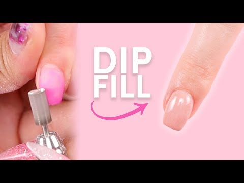 HOW TO: DIP POWDER FILL ON NATURAL NAILS 💅🏻 DIP FOR BEGINNERS 💕
