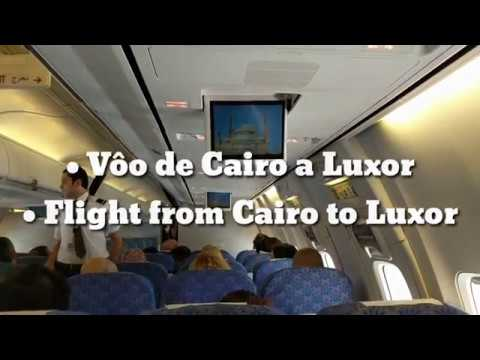 Vôo de Cairo a Luxor | Flight from Cairo to Luxor