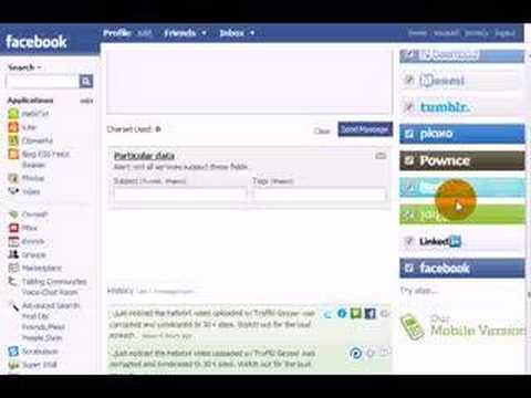 Microblogging on Facebook with Hellotxt