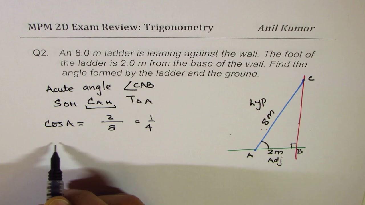 Trigonometry Exam Review MPM2D Grade 10 - YouTube [ 720 x 1280 Pixel ]