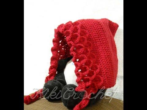 Crochet Crocodile Stitch Pixie Hat (english tutorial - pt 2) - YouTube eaffc6c85a3