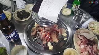 마시기통차 - 돼지모듬 (뒷고기) 연탄구이