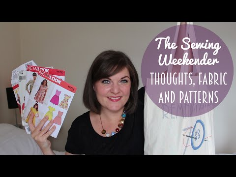 Sewing Weekender Gushing and Pattern & Fabric Swap Haul