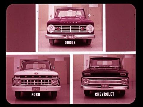 1965 Dodge Trucks vs Chevrolet & Ford Comparison Dealer Promo Film