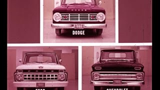 1965 Dodge Trucks vs Chevrolet & Ford Comparison Dealer Promo Film