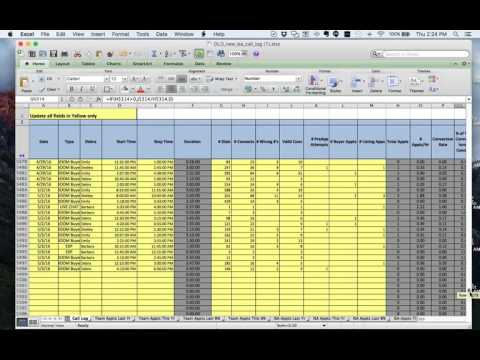 Inside Sales Agents ISA Real Estate Tracking Sheets