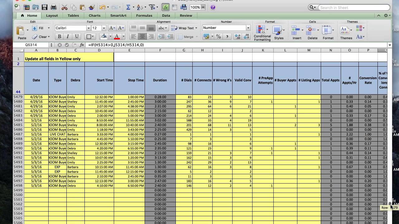 inside sales agents isa real estate tracking sheets youtube