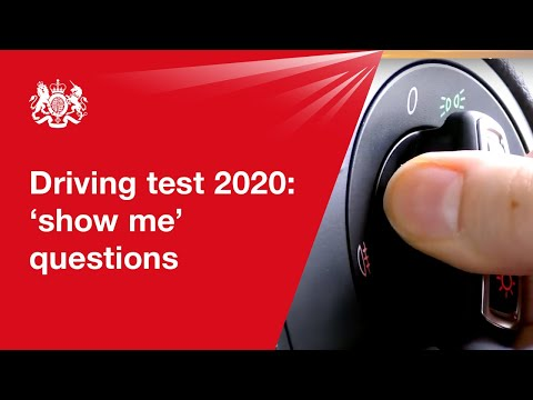 Driving test changes: 'show me' question while driving