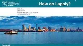 Study at Liverpool John Moore University- Judith Cooke (Part 1)
