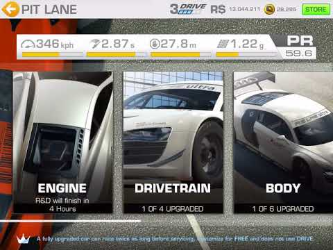 Real Racing 3 How To Fully Upgrade A Car In 3 Minutes Without Skip