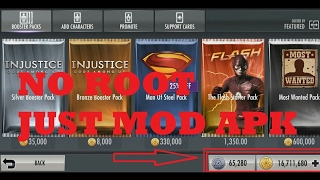Injustice: Gods Among Us V2.15 MEGA MOD APK + DATA  |  Unlimited Coins And Unlimited Money