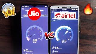 Jio VS Airtel Speed Test OMG Guys Must Watch!