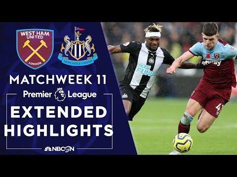 West Ham v. Newcastle    PREMIER LEAGUE HIGHLIGHTS   11/02/19   NBC Sports