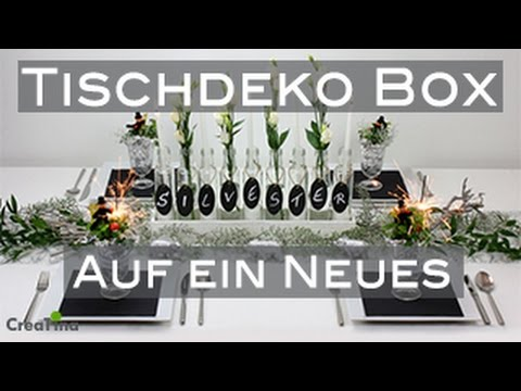 tischdeko tischdeko box silvester auf ein neues tischdeko diy youtube. Black Bedroom Furniture Sets. Home Design Ideas