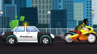 Police Car  | videos For Children | Nursery Rhymes And Baby Songs