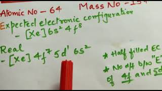 Class 12 Gandolinium jee/neet d block element