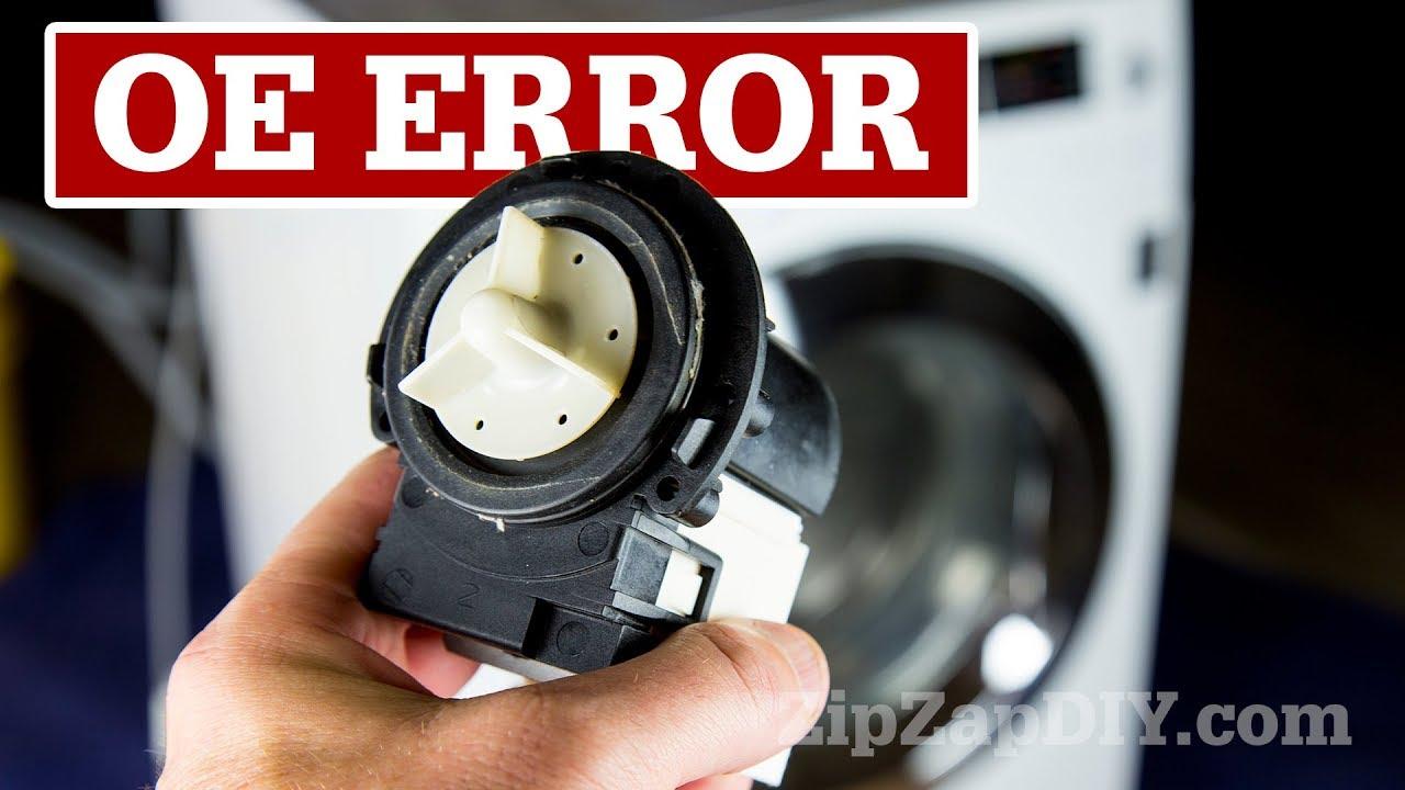 Oe Error Message Lg Washing Machine Drain Pump Replacement Youtube