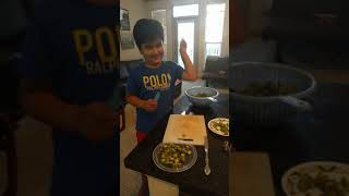 Our Master Chef - how to cut Bhindi or Okra