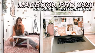 """UNBOXING AND CUSTOMIZING MY NEW 2020 MACBOOK PRO 16"""" 