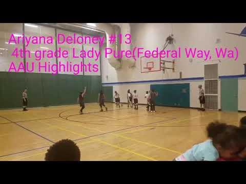 4th grade aau girls basketball baller #13Ariyana Deloney