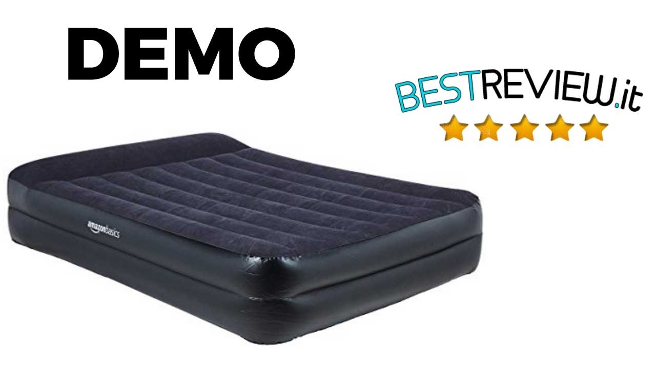 Materasso Letto Gonfiabile Airbed.Demo Materassino Amazon Basics Elettrico Automatico Youtube