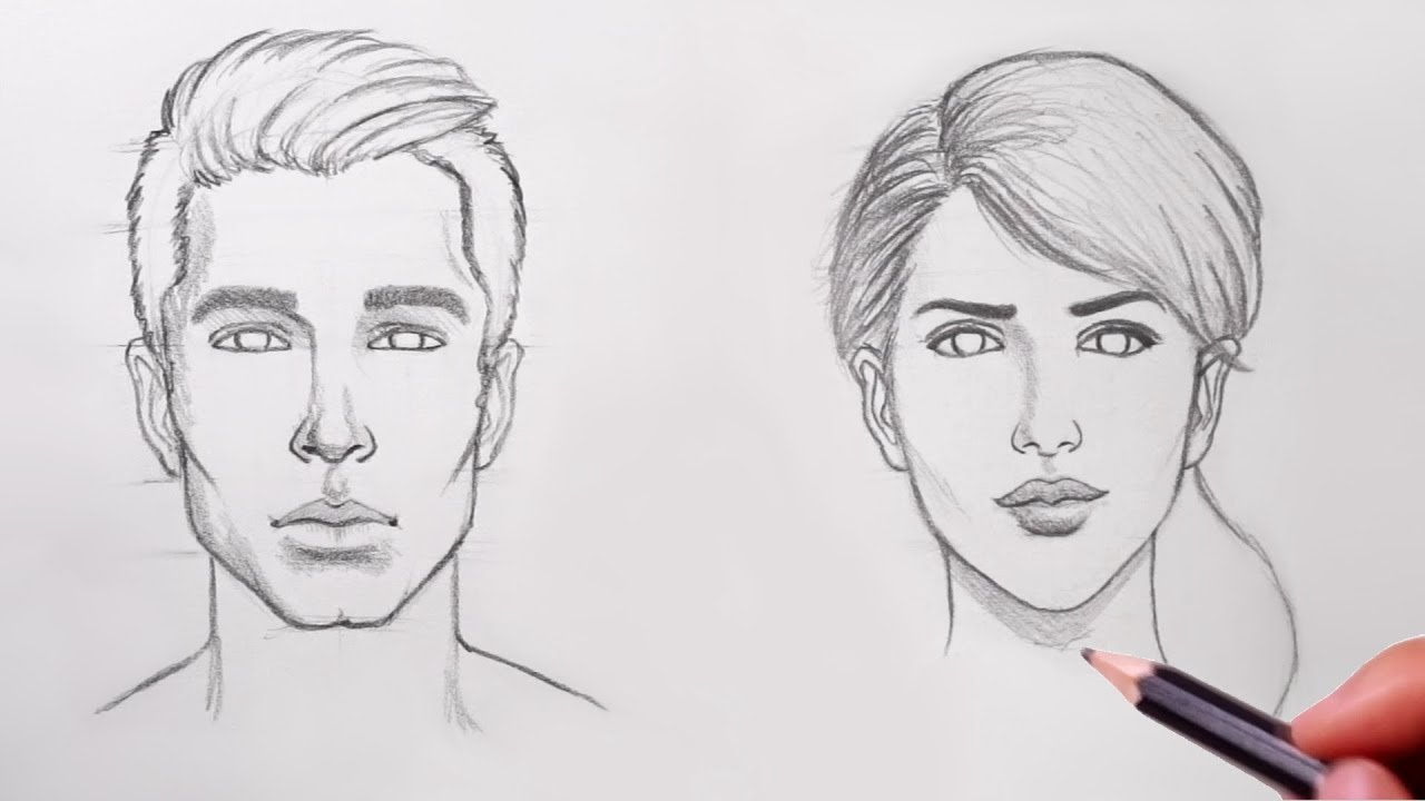 How to Draw Faces - YouTube