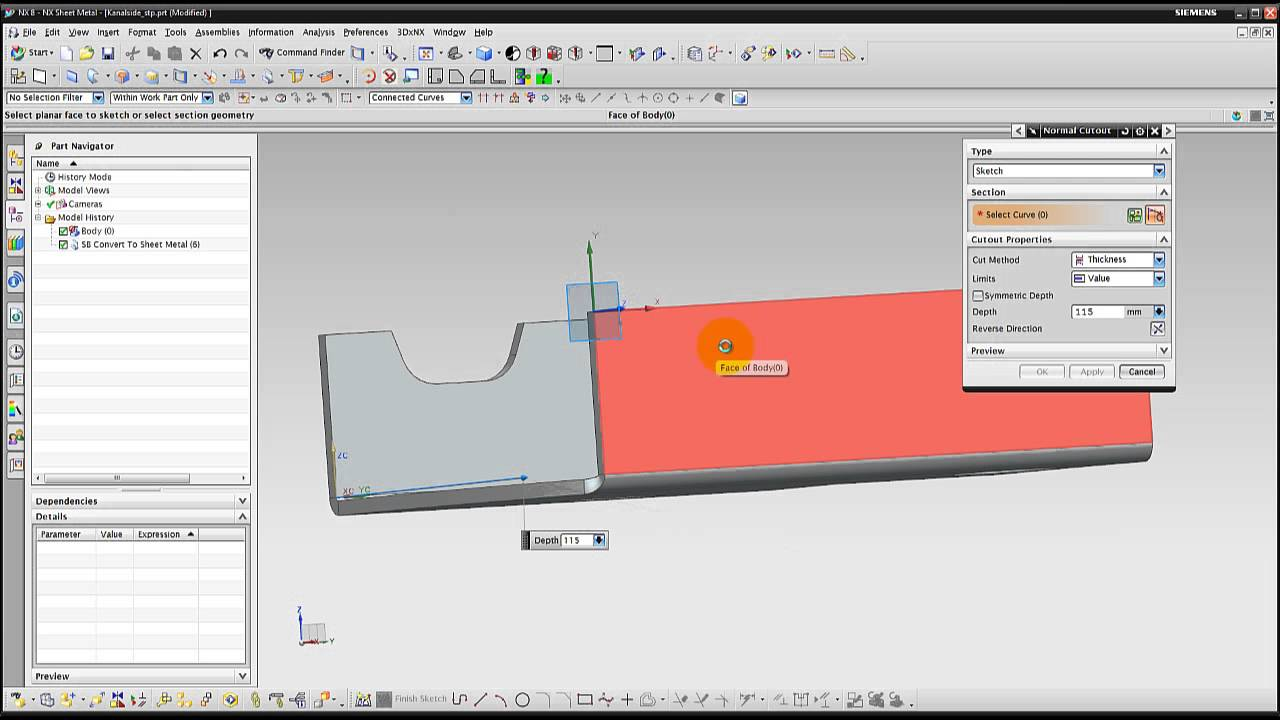 Nx tips triks convert to sheet metal youtube nx tips triks convert to sheet metal baditri Image collections