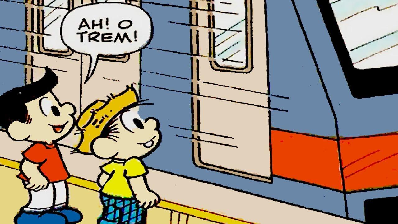 Chico Bento conhece o metrô da cidade   Gibis do Chico