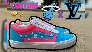 Miami Heat Vice x Louis Vuitton Custom Vans🎨
