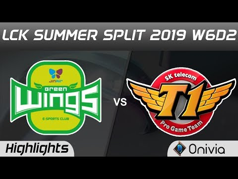 JAG vs SKT Highlights Game 1 LCK Summer 2019 W6D2 Jin Air GreenWings vs SK Telecom T1 Highlights by