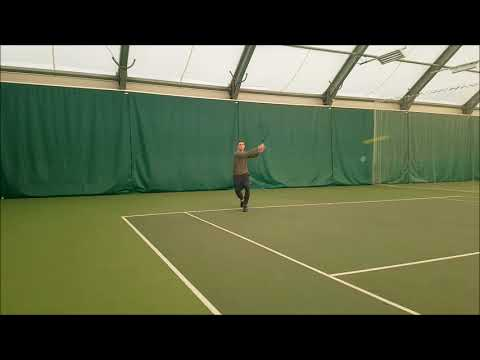2 Handed Backhand Front View
