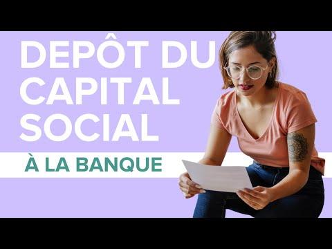 Comment déposer le capital social à la banque ? - Legalstart.fr