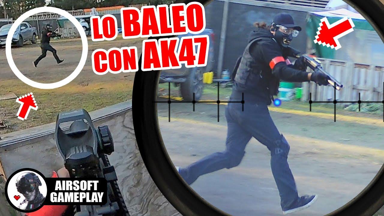 Lo BALEO con mi AK47❗️ ☠️ ▬ SIN CORTES ▬ Yio Airsoft Gameplay