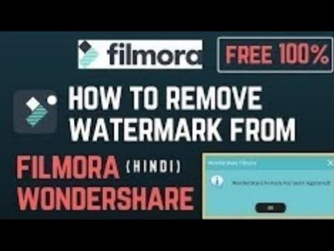 How To Remove Watermark In Filmora In Hindi||how To Remove Watermark Of Wondershare Filmora Free