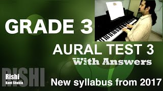 Grade 3 - Sample Aural Test 3 with Answer for Trinity Exam (from 2017)