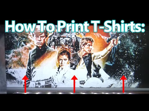 4K How To DTG Print A Star Wars Return Of The Jedi T-Shirt Epson F2100 Direct To Garment Printer
