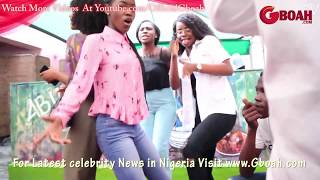 Iyabo Ojo Vs Mercy Aigbe Daughters In Dancing Competition to Olamide Wo at Her Mom's Abula Spot