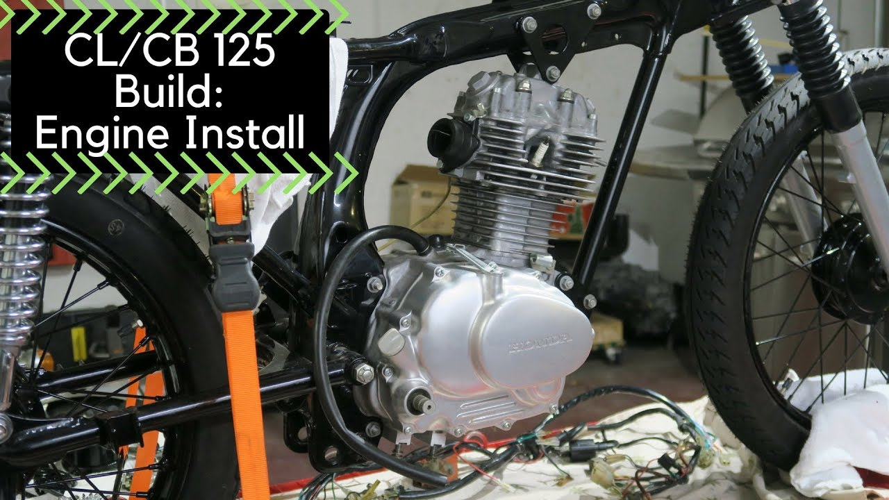hight resolution of honda cl cb125 build part 3 engine install ae17