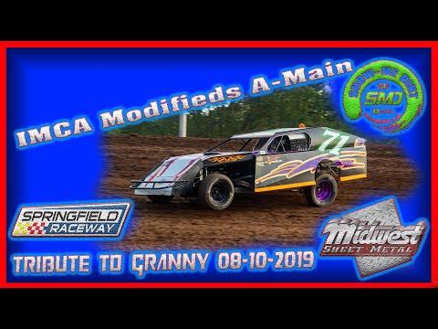 S03-E399 IMCA Modifieds A-Main - Tribute to Granny Springfield Raceway 08-10-2019 Dirt Track Racing