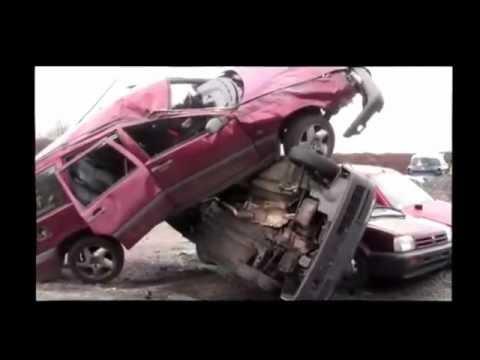 diy car crash volvo 850 crash test youtube