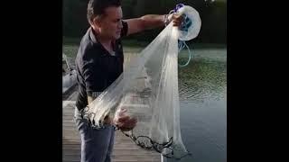 Serpme ağ nasıl atılır. How to throw a castnet. Kastnät
