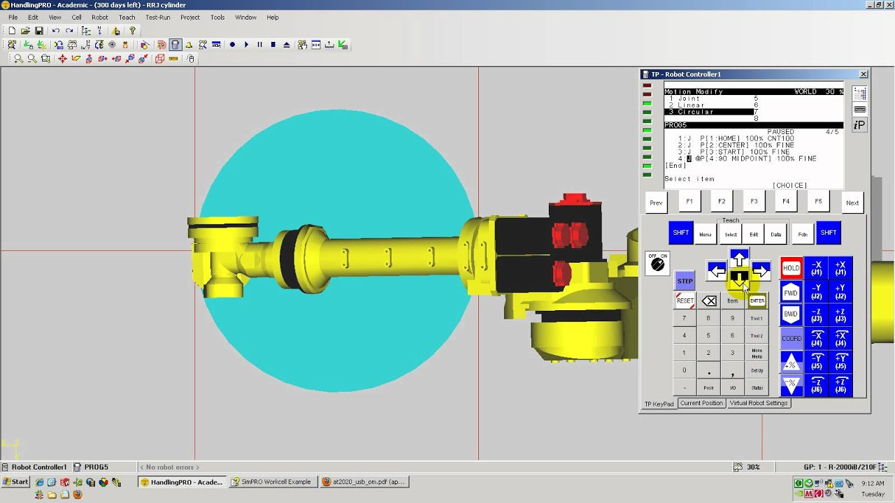 How to program a CIRCLE (or ARC) command on a FANUC Teach Pendant