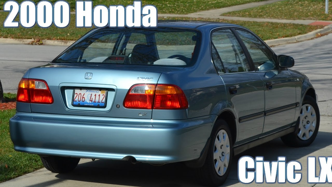 2000 Honda Civic Lx Sedan Iced Teal Blue Restoration W 10