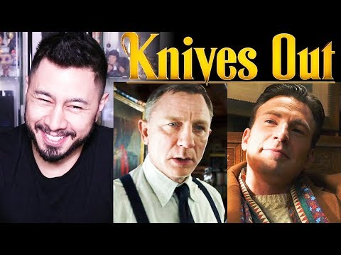 KNIVES OUT | Chris Evans | Daniel Craig | Jamie Lee Curtis | Rian Johnson | Trailer Reaction!