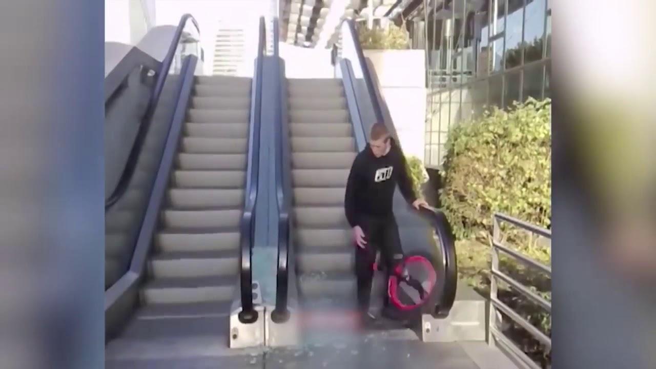 Download Guy BREAKS escalator